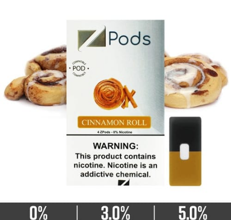 Cinnamon Roll Ziip Pods for Juul Devices