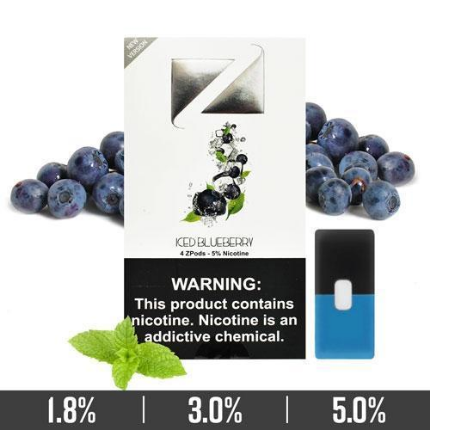 Iced Blueberry Ziip Pods for Juul Devices in Dubai
