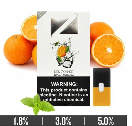 Iced Orange Ziip Pods for Juul Devices in UAE