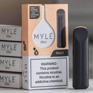 Mini Peach MYLÉ Disposable Vape Pods in UAE