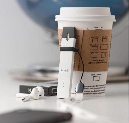 V1 White Pearl MYLE Pod Vape Device in UAE