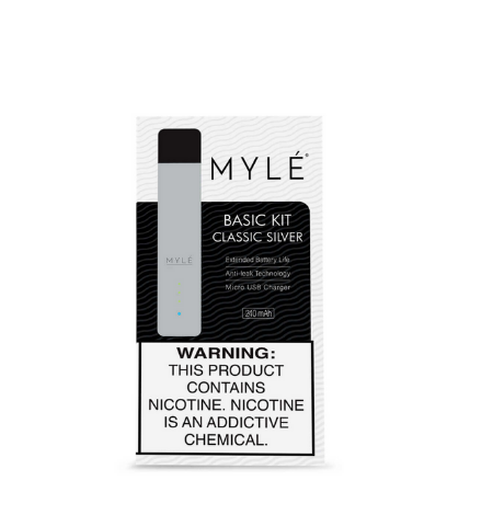 V4 Classic Silver MYLÉ Pod Vape Device in dubai
