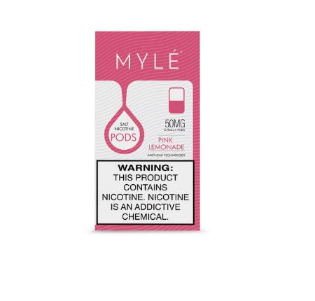 V4 Pink Lemonade MYLE Vape Pods in UAE