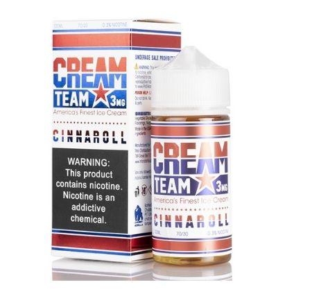 CINNAROLL BY CREAM TEAM E-LIQUID 100ML 3MG