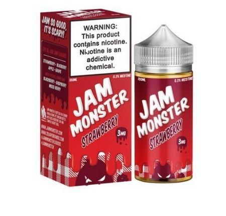JAM MONSTER 100ML STRAWBERRY E-LIQUID-3MG